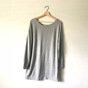 Eileen Fisher Pullover Sweatshirt Tunic Gray L